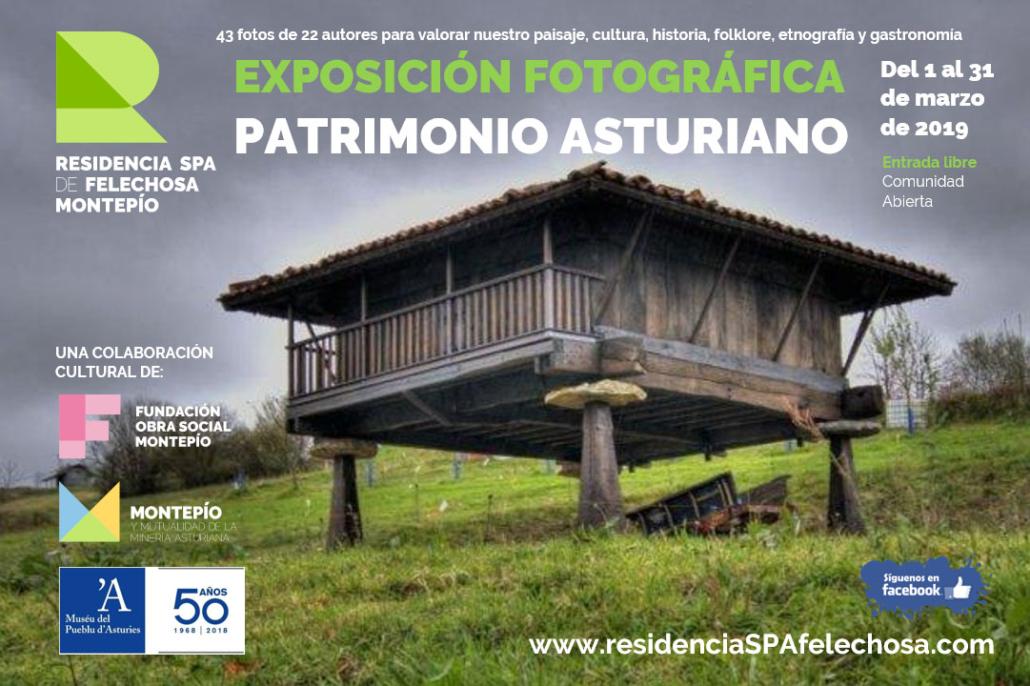 Exposición fotográfica Patrimonio Asturiano en la Residencia Spa de Felechosa
