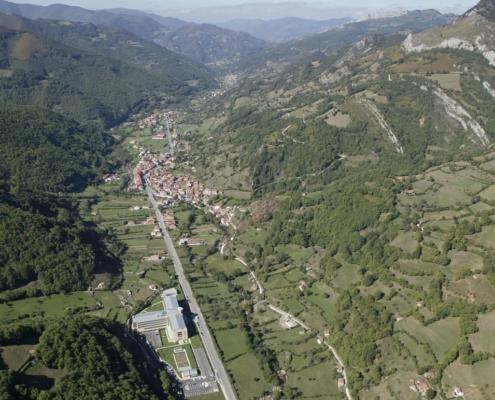 Vista aérea de la Residencia Spa de Felechosa