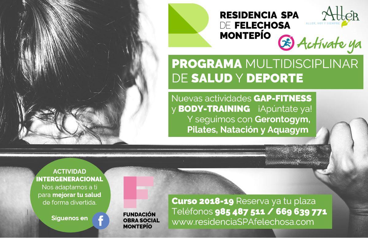 Programa multidisciplinar de salud y deporte en la Residencia Spa Felechosa