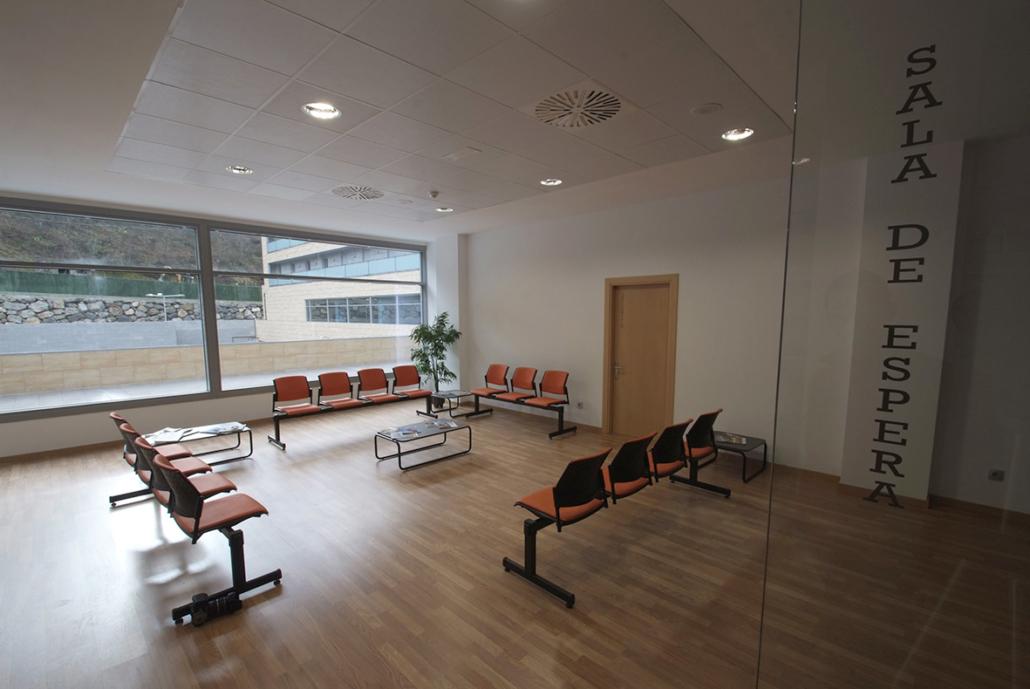 Sala de espera de la Residencia Spa de Felechosa