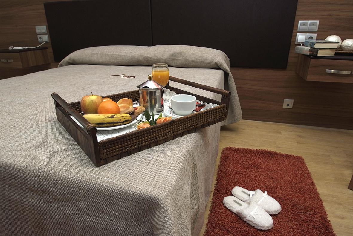 Desayuno en la habitación de la Residencia Spa de Felechosa