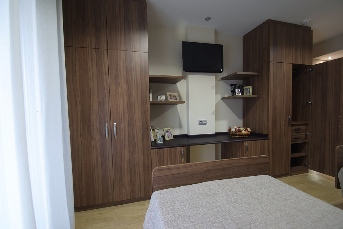 Habitación doble de la Residencia Spa de Felechosa
