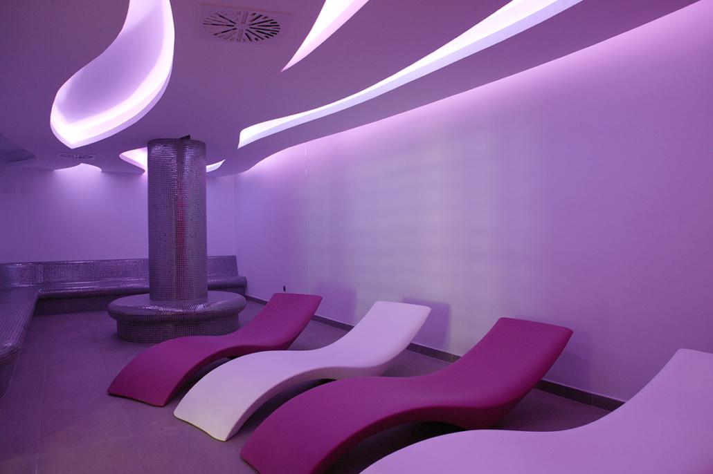 Sala de relajación del spa de la Residencia Spa de Felechosa