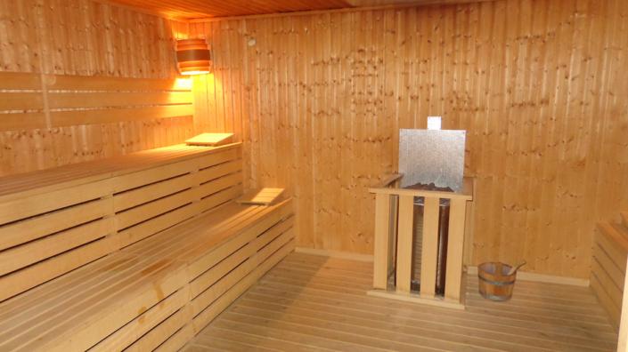 Sauna del spa de la Residencia Spa de Felechosa