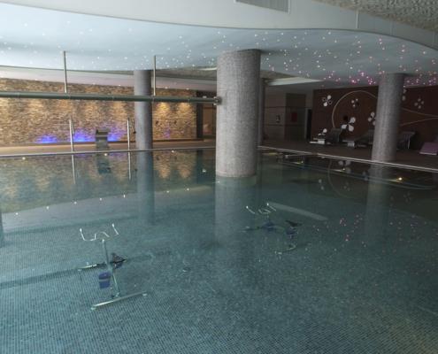 Piscina dinámica del spa de la Residencia Spa de Felechosa