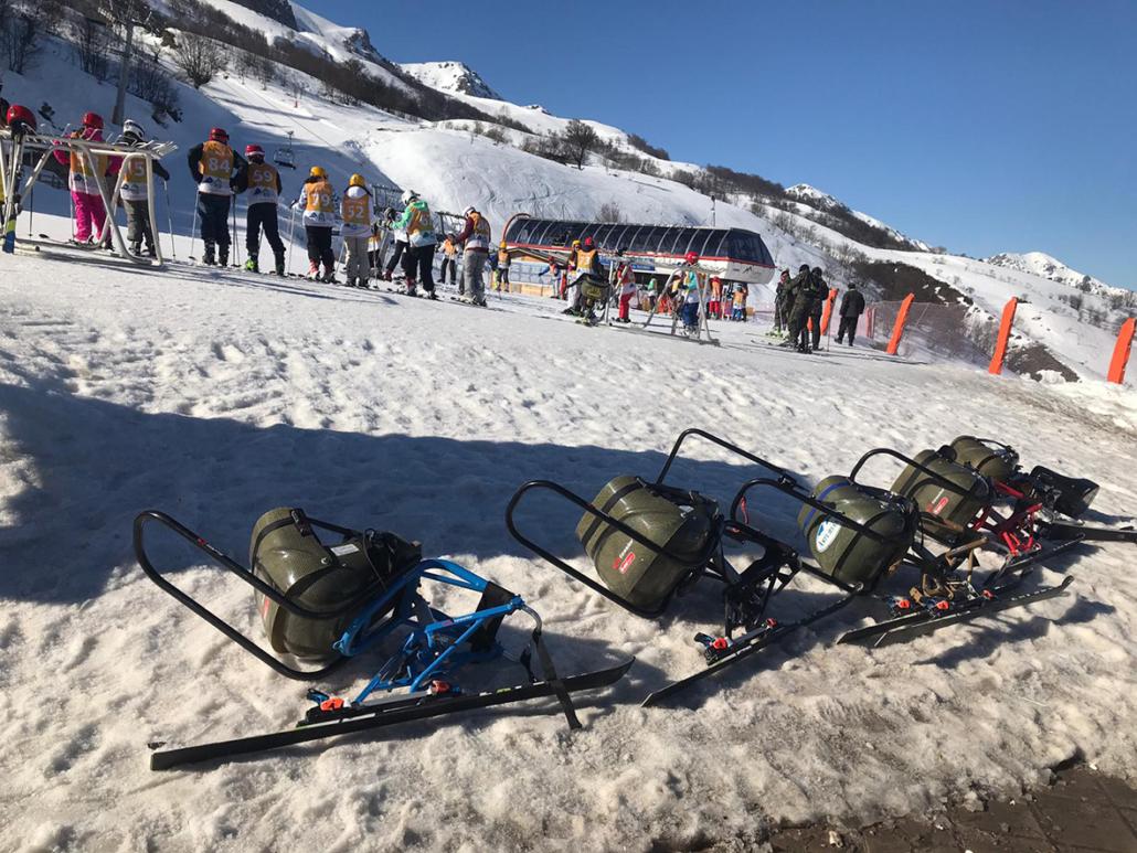 Esquí adaptado en Fuentes de Invierno